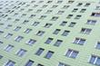 Fassade eines Plattenbaus in Berlin, Deutschland