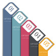 Vertical 3d banners design for infographics