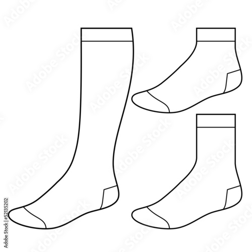 Set of blank socks - 52135202