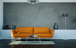 Wohndesign- Sofa orange