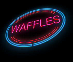 Neon waffle sign.
