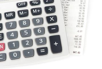 check and calculator