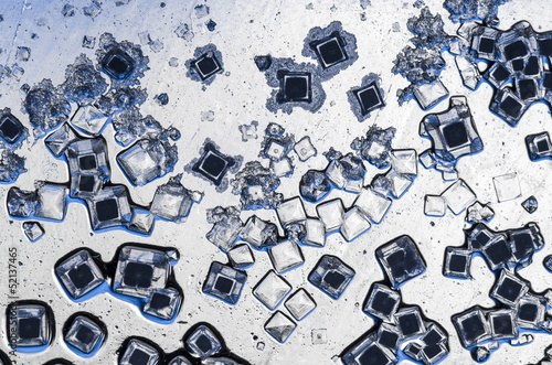 salt crystals closeup abstract background