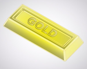 golden ingot made from pure gold vector