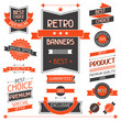 Retro banners. Set of labels and stickers.