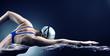 Leinwandbild Motiv Swimmer swims.