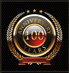 100 years Anniversary golden label