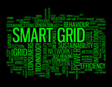 SMART GRID tag cloud (technology communications service)