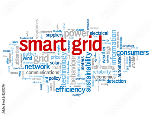 """SMART GRID"" Tag Cloud (technology communications services lean)"