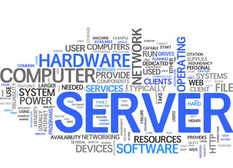 Server (english tag cloud)