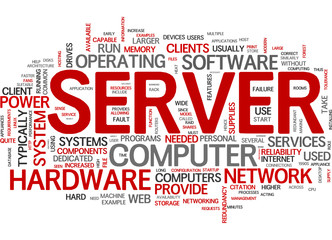 Server (english tag cloud)