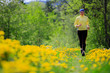 Runner - woman running outdoors, weight loss concept