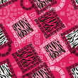 Abstract african style seamless with wild animal skin pattern