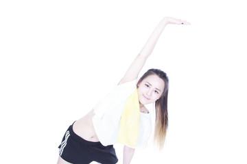Beautiful young sporty woman