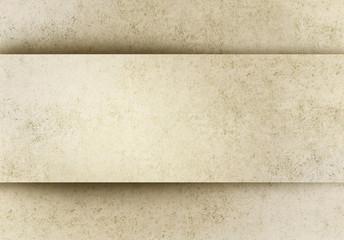 Sfondo carta invecchiata con banner in rilievo