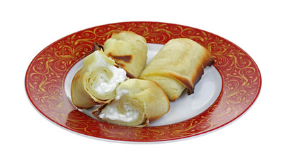 Cheese Blintzes Single Halved