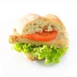 Ciabattabrot mit veganem Schnitzel,Tomate und Salat
