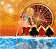 Summer poker time  vector illustration