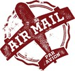 Vintage Air Mail Par Avion Stamp