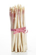 white asparagus on a bright background