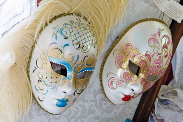 decorated venetian masks