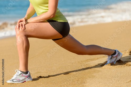 Sport and stretching concept on summer