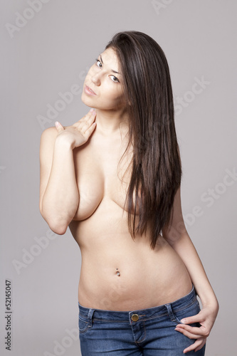 Sexy topless woman