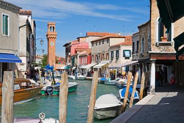 murano island near venezia, italy