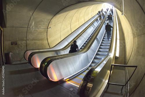 In de dag Washington DC Metro escalator