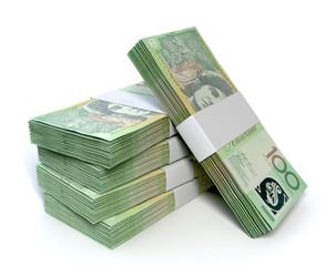 Australian One Hundred Dollar Notes Bundles