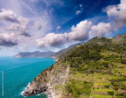 Wonderful landscape of Cinque Terre Coast, Italy