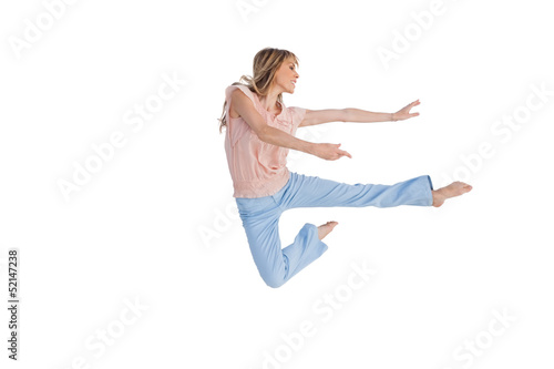 Woman doing dance pose