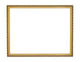 Marco de cuadro dorado
