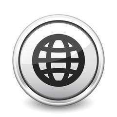 button gray globe