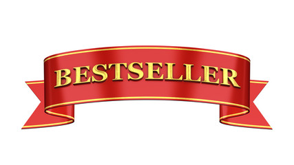Red and gold promotional banner , Bestseller