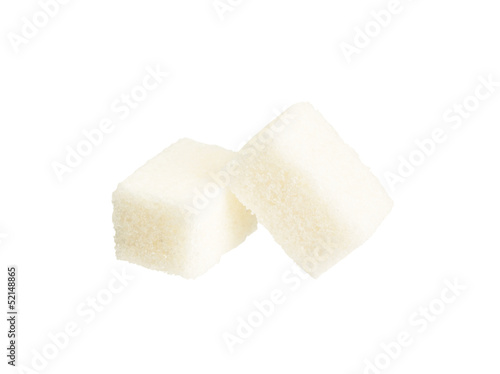 white sugar isolated on white
