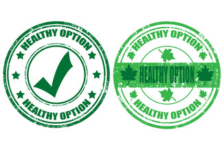 Set of healty option stamps