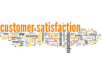 Customer Satisfaction (english tag cloud)