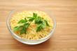Italian Parsley on Top of Risoni Pasta