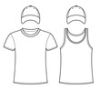 T-shirt, Singlet and Caps template