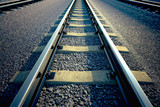 Fototapety Railroad straight track.