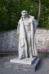 Курортный парк город Железноводск. Памятник А.С. Пушкину
