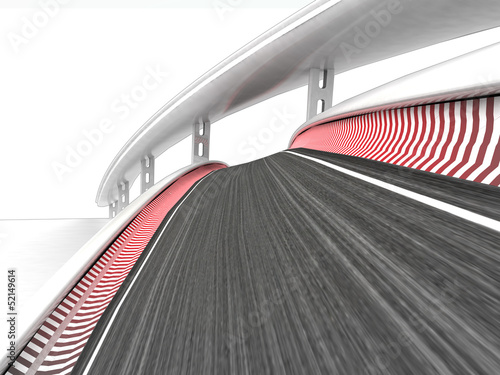 two bended race tracks on white background