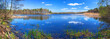 Panorama of beautiful lake in Poland