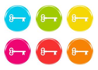 Iconos con llaves en varios colores