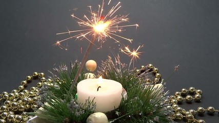 fireworks and candle decoration