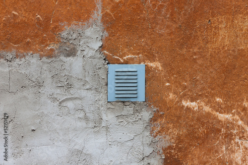 metal ventilation window on wall