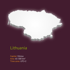 3d map of Lithuania