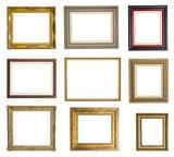 Fototapety Colección de marcos de cuadro aislados sobre fondo blanco