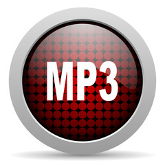mp3 glossy icon